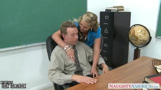 Hot teacher Phoenix Marie fucks in class