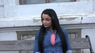 Dasha(Teen virgin gets laid for the first time with two horn