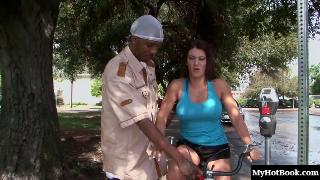 Leena Sky is always down to bend over and take a huge black