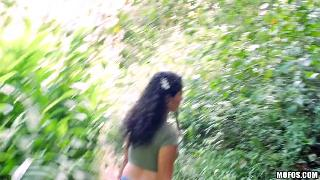 Angela Natural Amateur Banged by the River